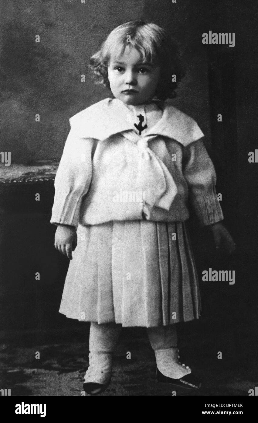 WILLY FRITSCH CHILDHOOD PICTURE OF ACTOR (1902) - Stock Image