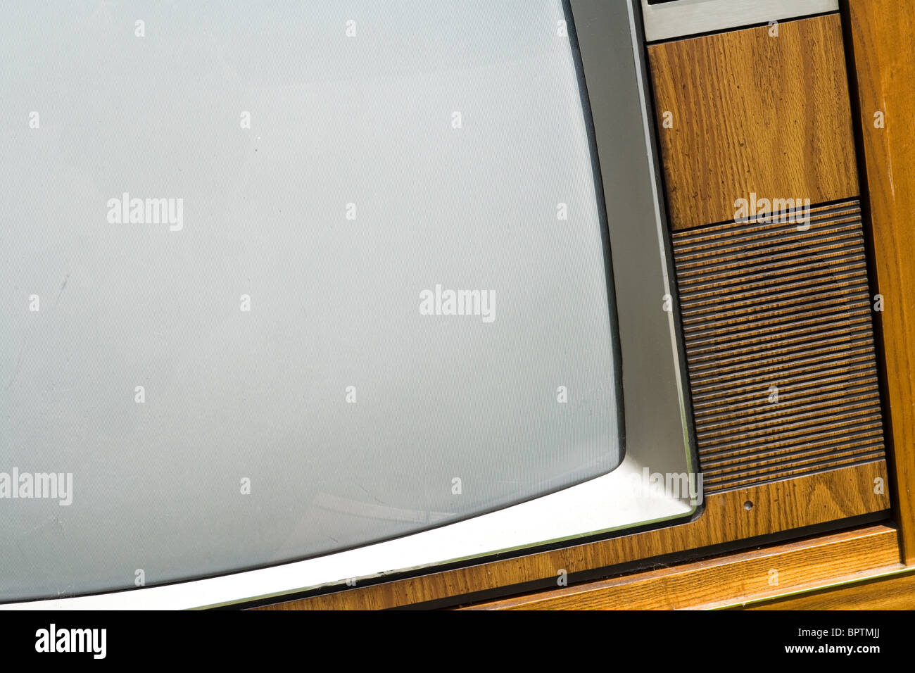 Old-fashioned Television close up - Stock Image