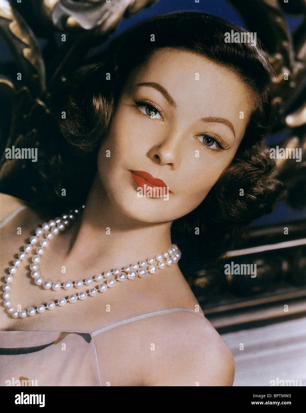GENE TIERNEY ACTRESS (1944) - Stock Image