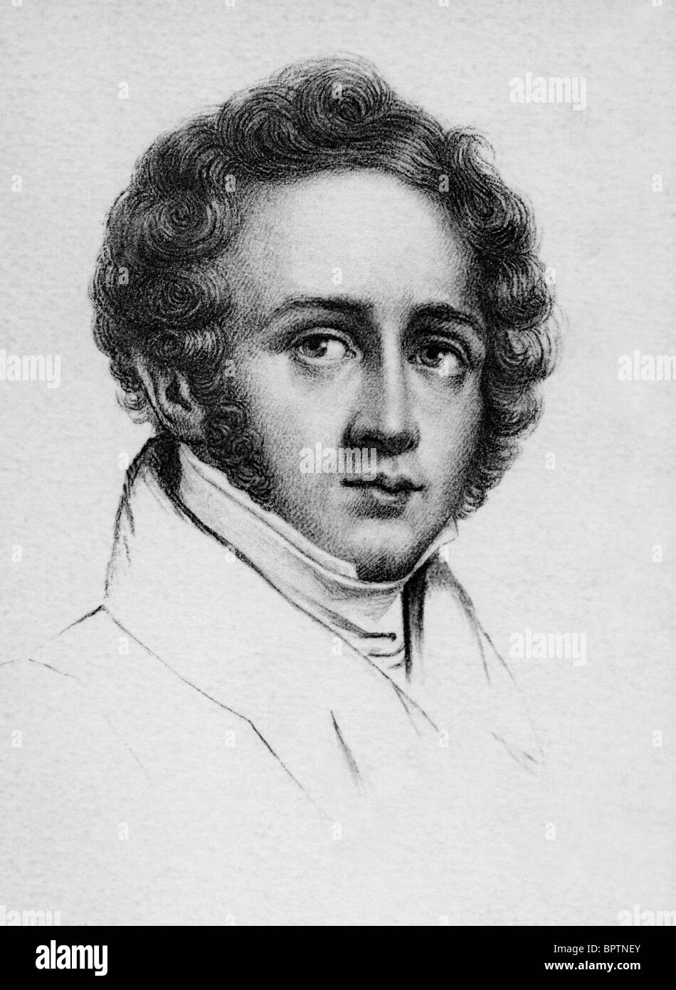 VINCENZO BELLINI COMPOSER (1830) - Stock Image