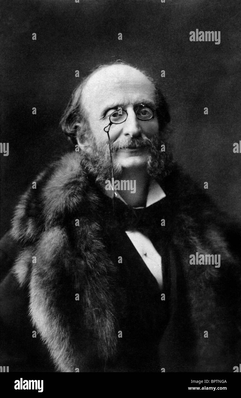 JACQUES OFFENBACH COMPOSER (1869) - Stock Image