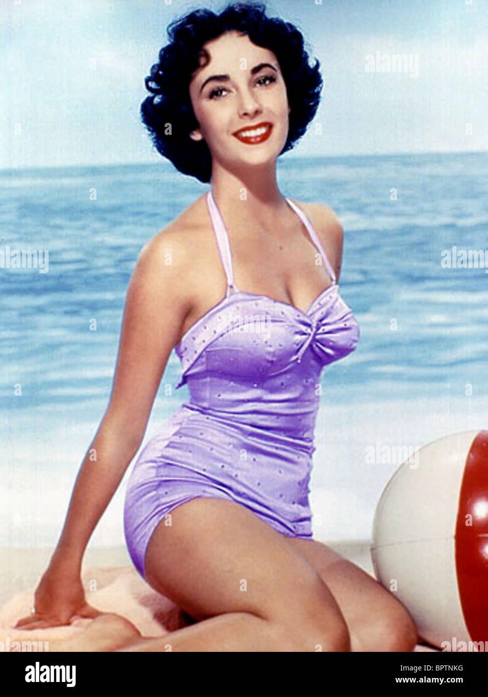 ELIZABETH TAYLOR ACTRESS (1955) - Stock Image