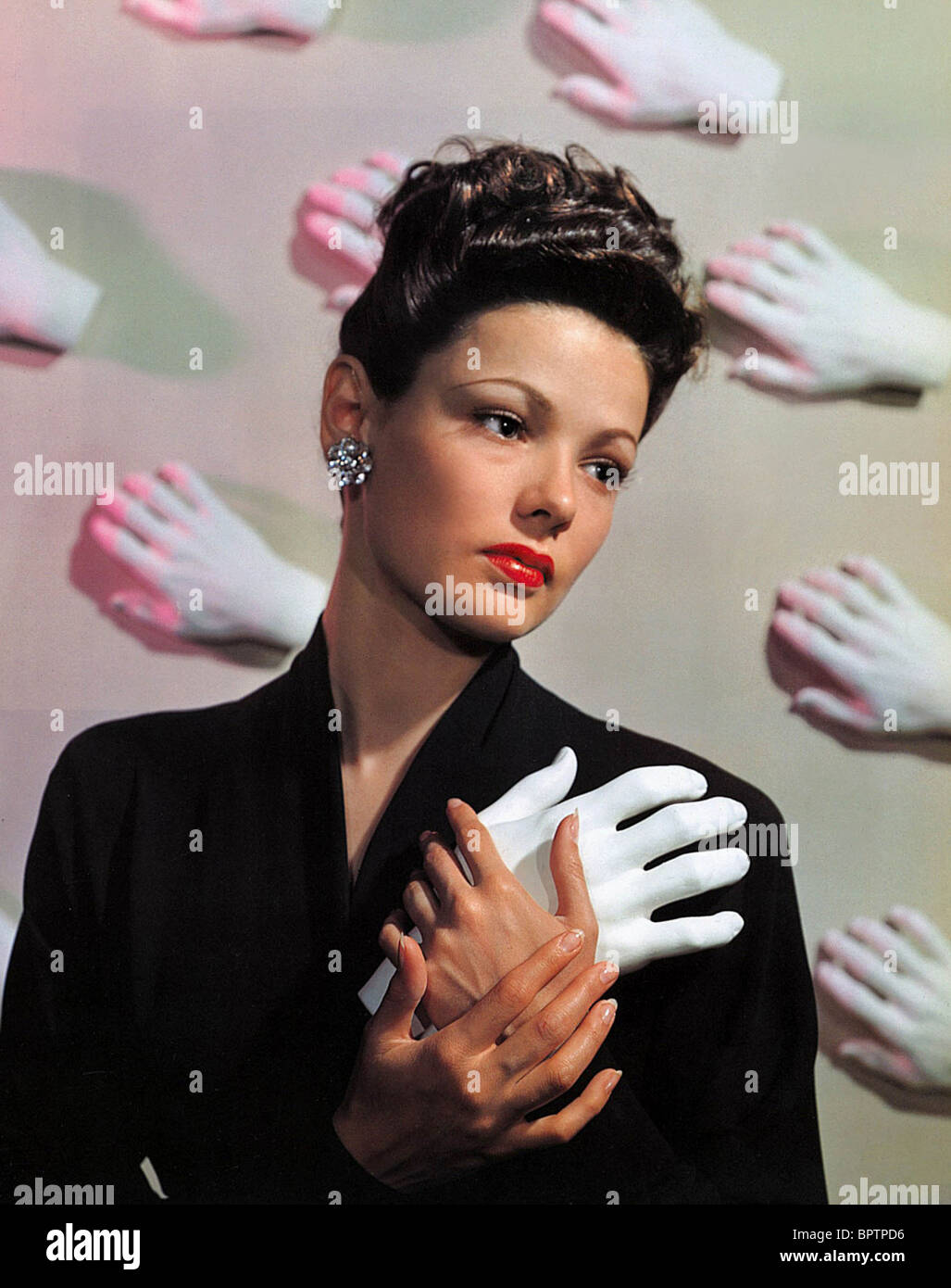 GENE TIERNEY ACTRESS (1943) - Stock Image