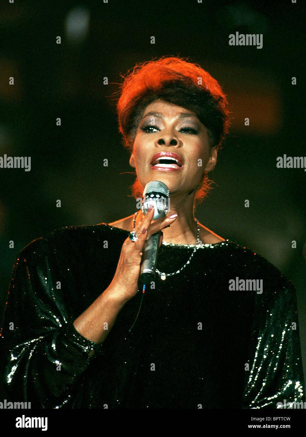 DIONNE WARWICK SINGER (1989) - Stock Image