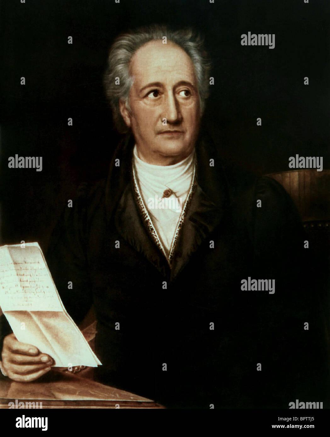 JOHANN WOLGANG GOETHE PLAYWRIGHT & POET (1809) - Stock Image