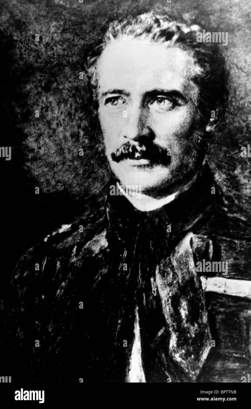 GENERAL CHARLES GORDON COMMANDER OF BRITISH COLONIAL (1877) - Stock Image