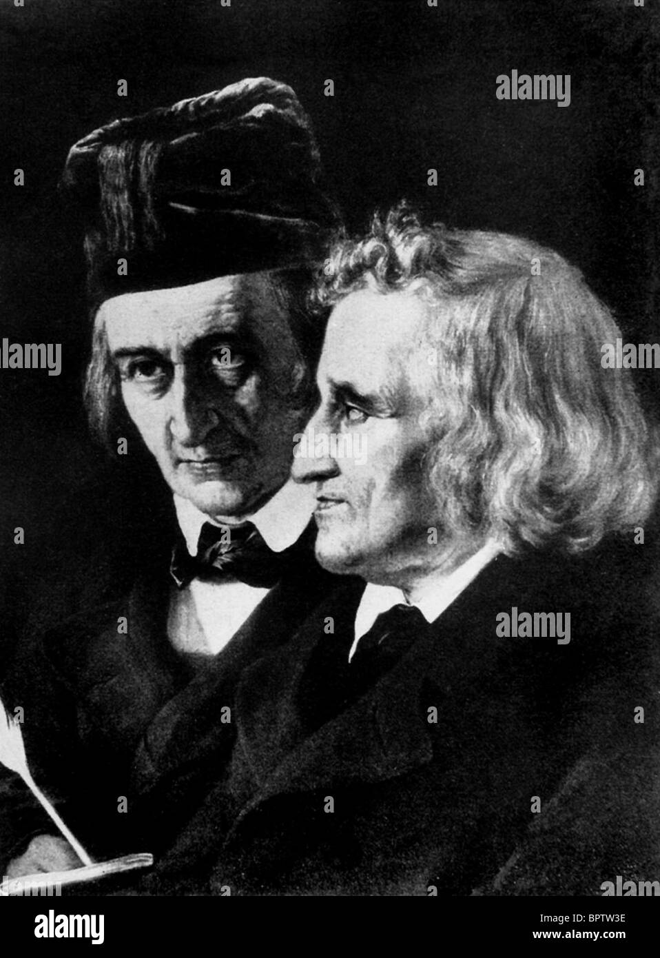 WILHELM GRIMM & JACOB GRIMM AUTHORS THE BROTHERS GRIMM (1845) - Stock Image