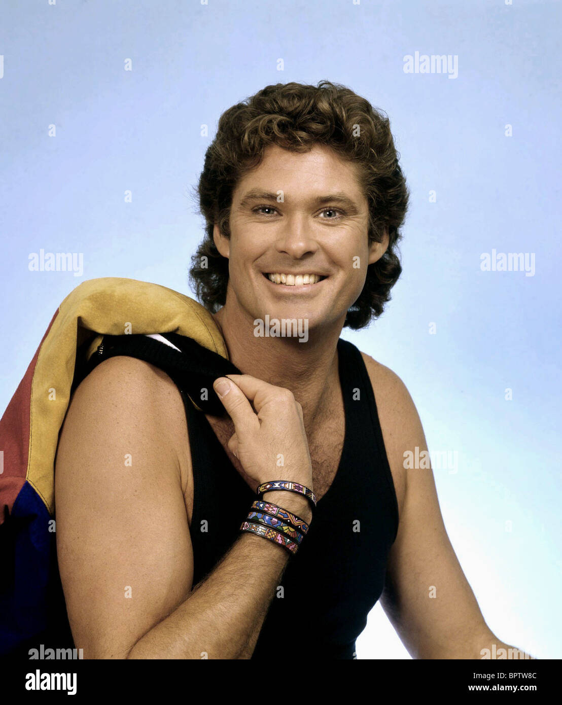 DAVID HASSELHOFF ACTOR AND SINGER (1989) - Stock Image