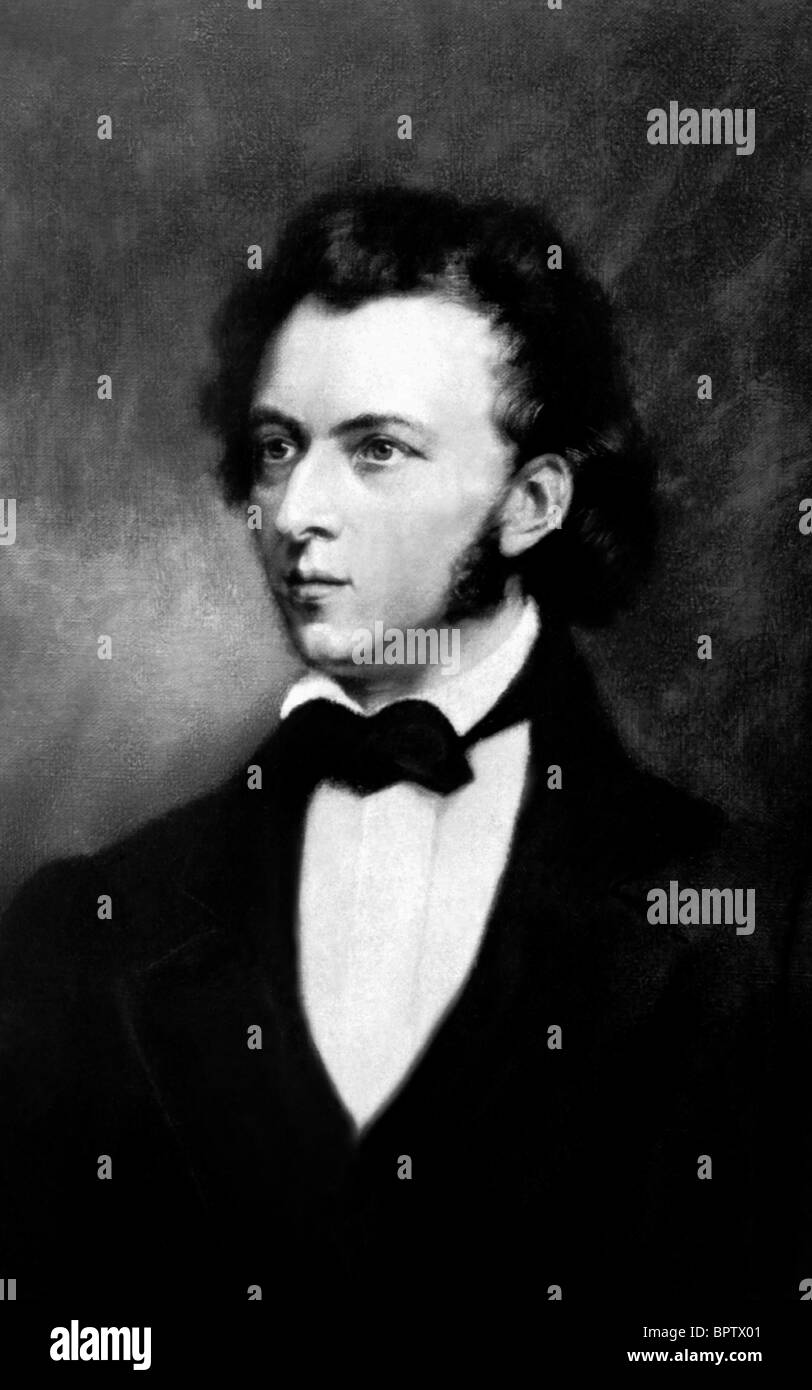 FREDERIC CHOPIN MUSIC COMPOSER (1840) - Stock Image