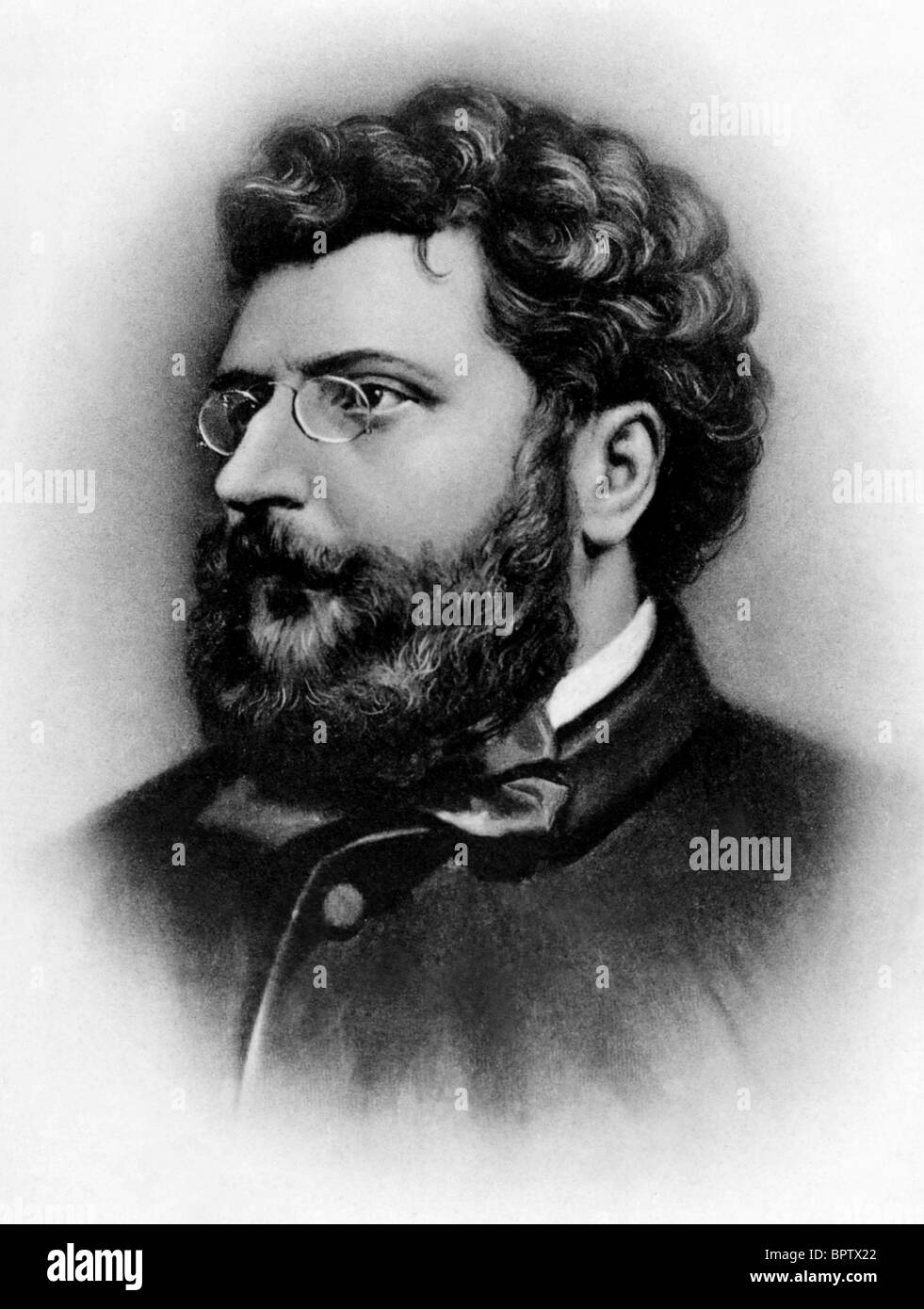 GEORGES BIZET MUSIC COMPOSER (1883) - Stock Image