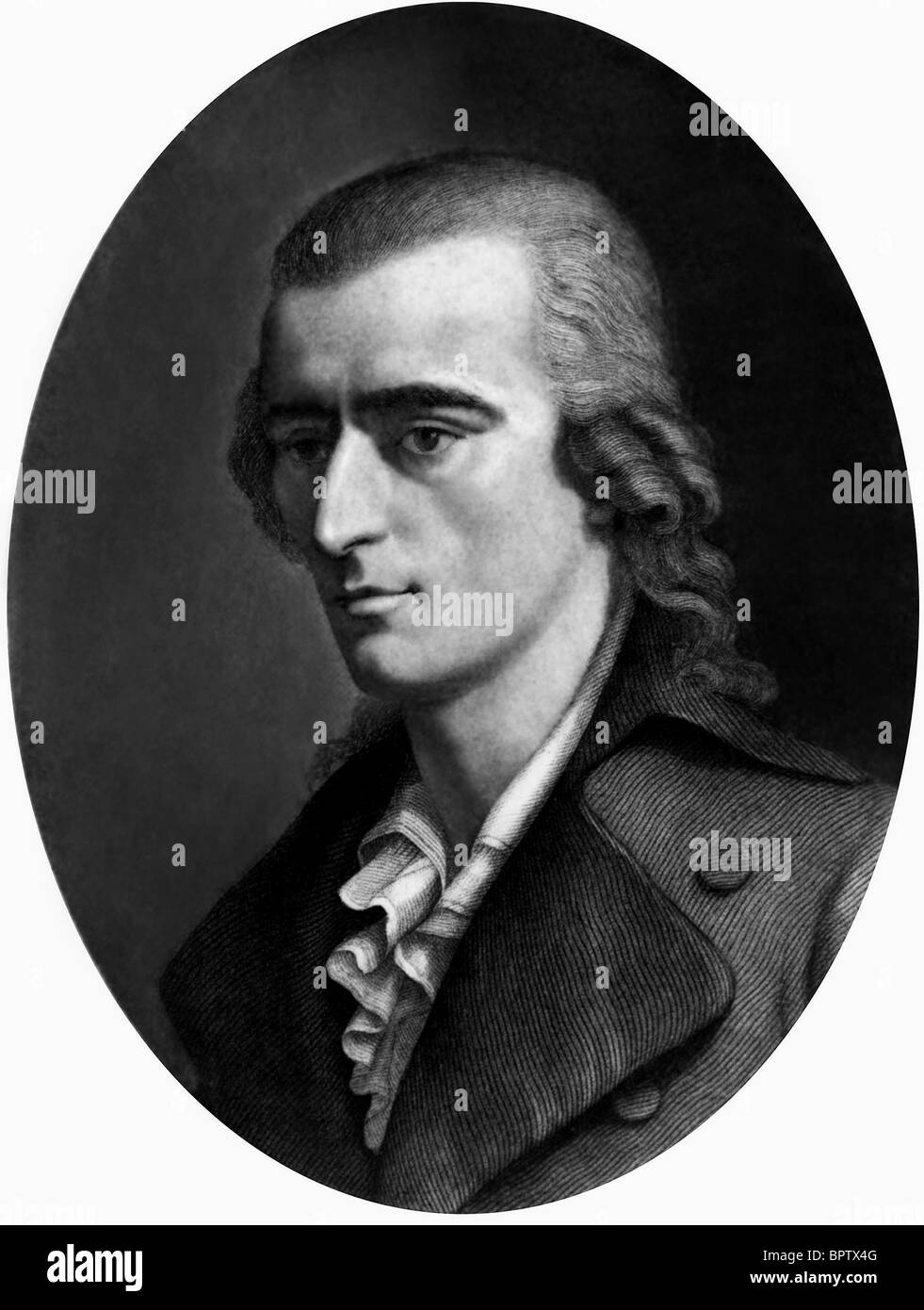 FRIEDRICH VON SCHILLER WRITER AUTHOR (1759) - Stock Image