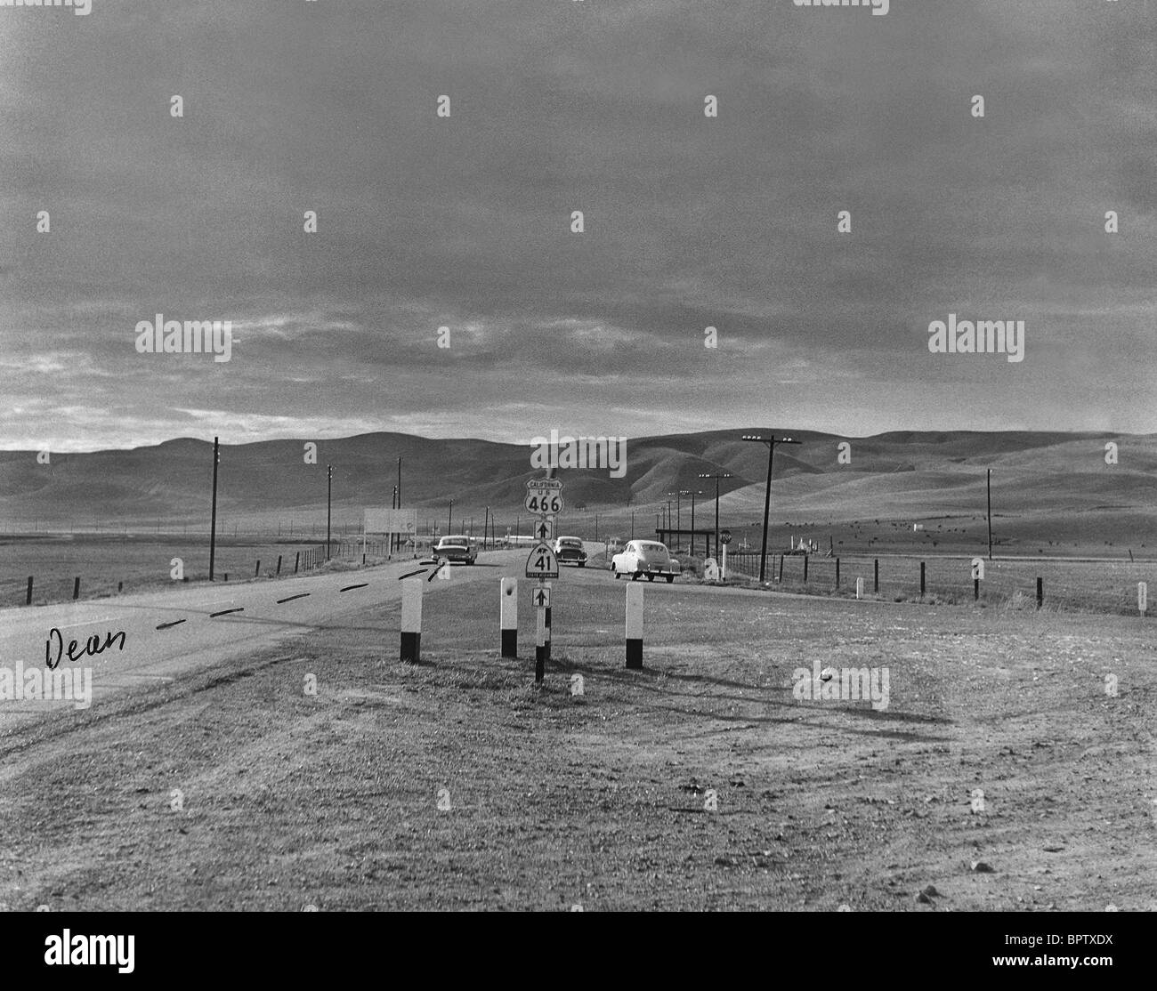 Scene Of James Dean Crash Scene Of James Dean S Car Crash 1955 Stock Photo 31280422 Alamy