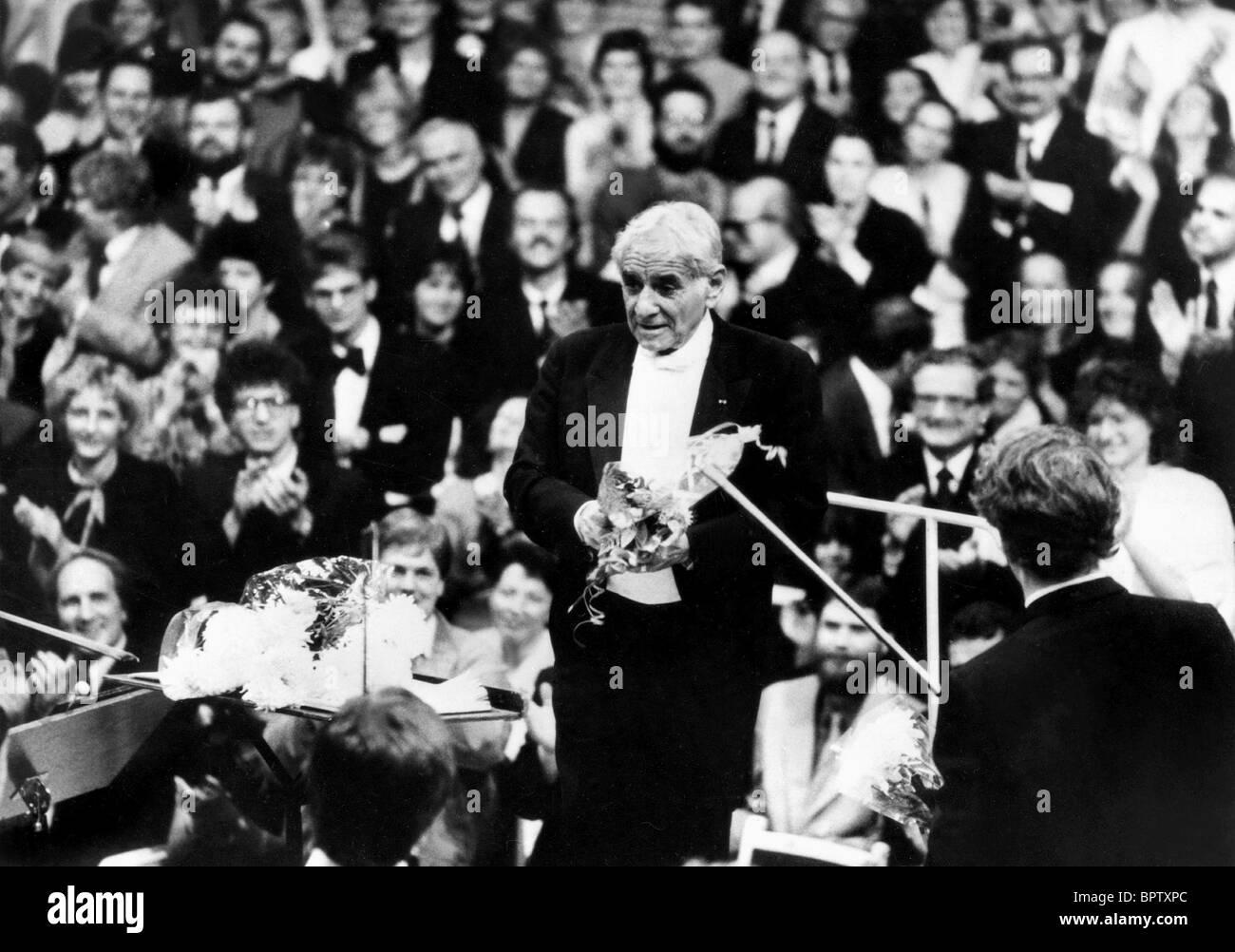 LEONARD BERNSTEIN MUSIC COMPOSER (1984) - Stock Image