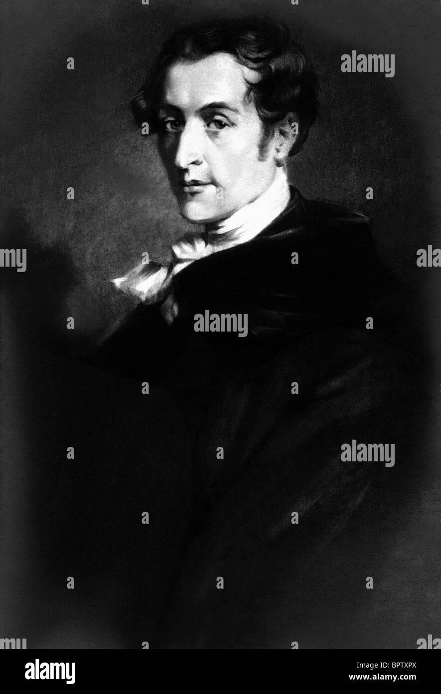 CARL MARIE VON WEBER MUSIC COMPOSER (1824) - Stock Image