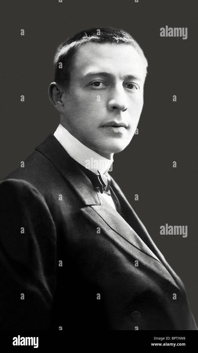 SERGEI RACHMANINOV MUSIC COMPOSER (1899) - Stock Image