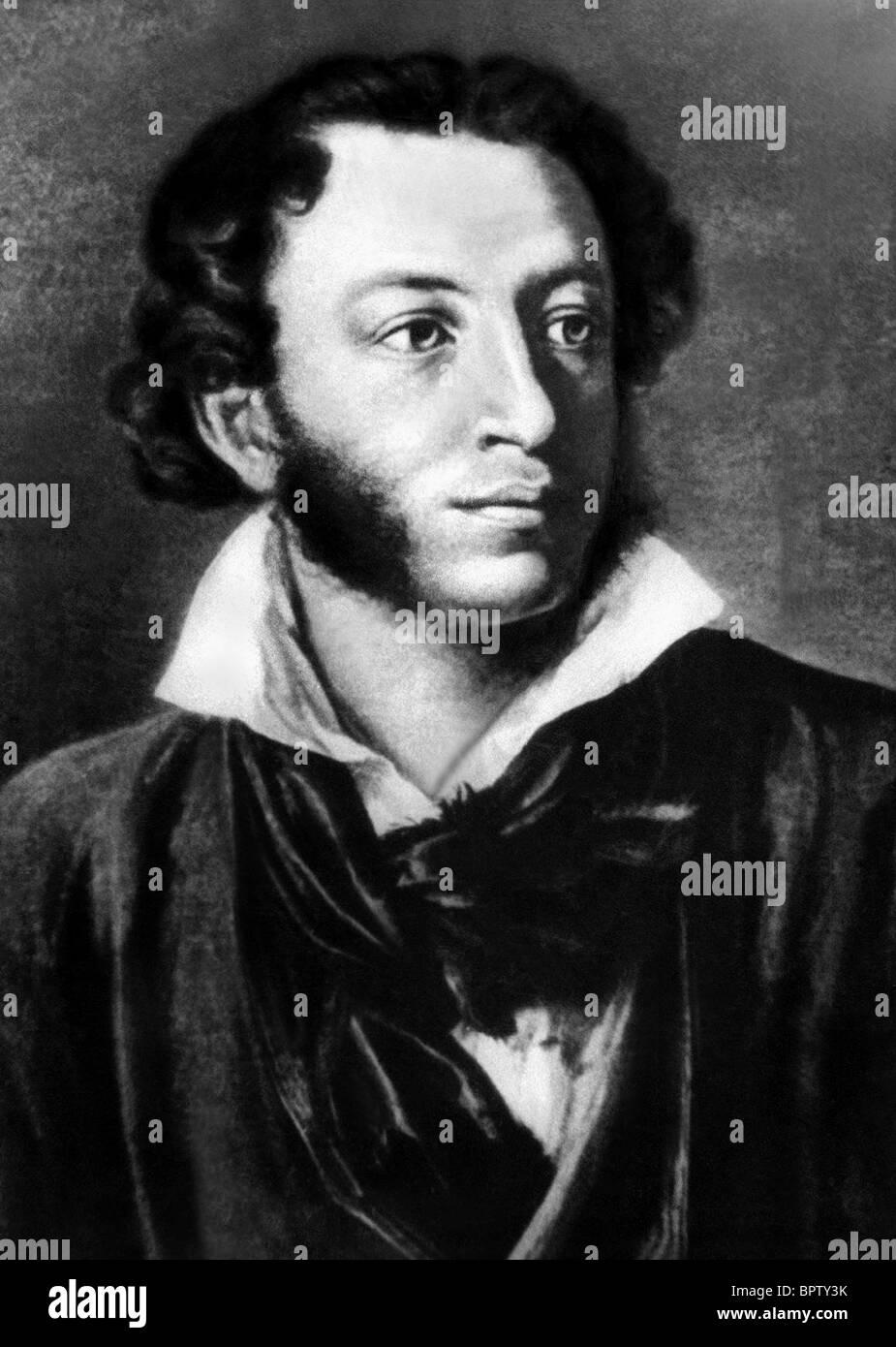 ALEXANDER PUSHKIN WRITER (1834) - Stock Image