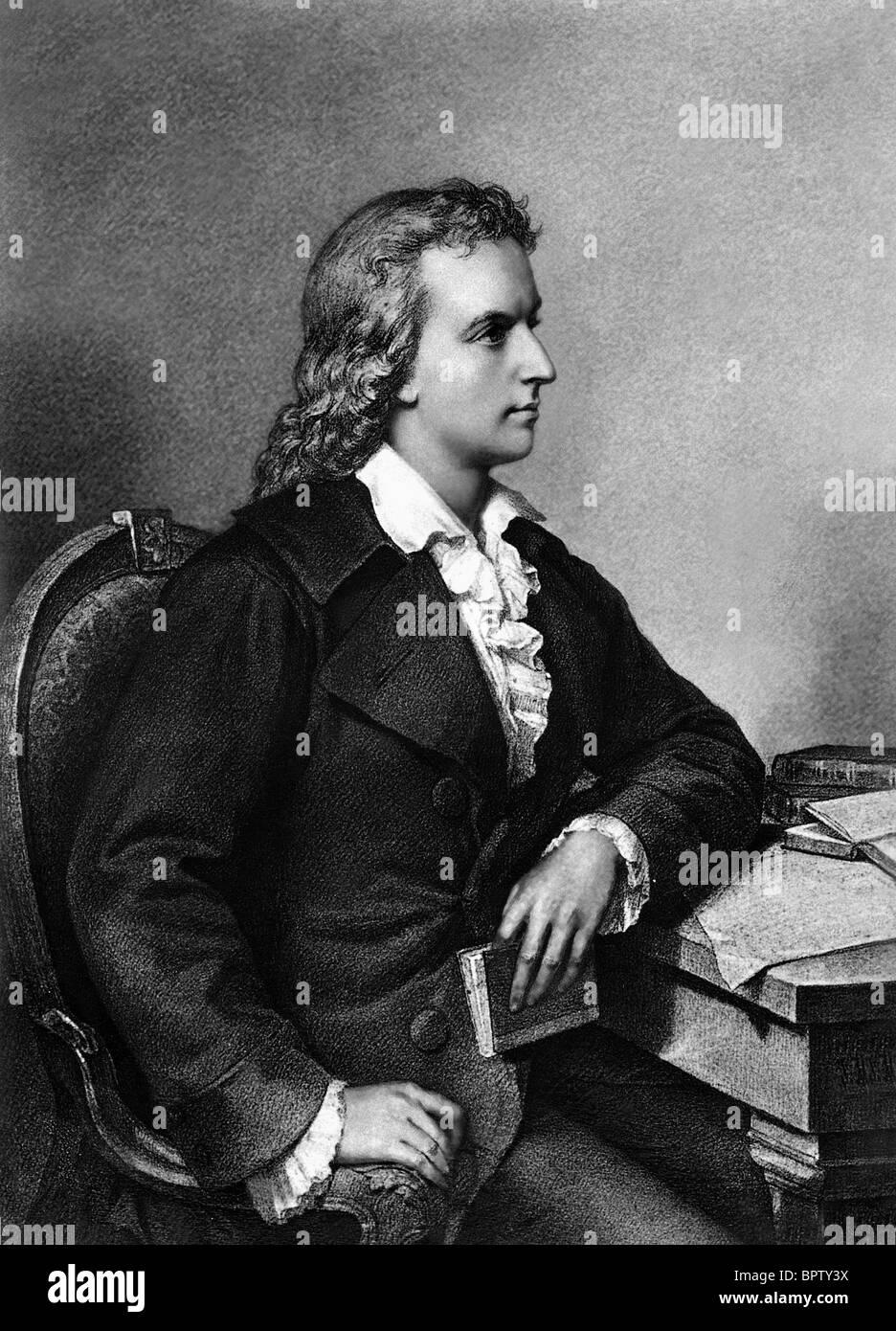 FRIEDRICH SCHILLER WRITER (1799) - Stock Image