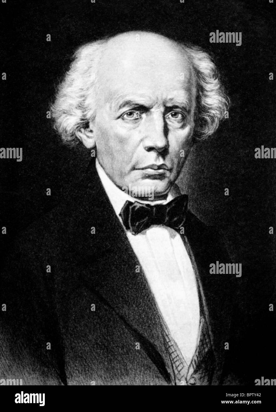 LUDWIG UHLAND WRITER (1852) - Stock Image