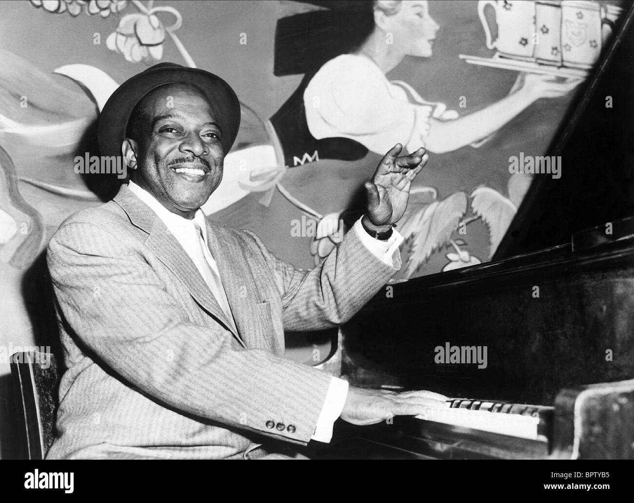 COUNT BASIE JAZZ MUSICIAN (1973) - Stock Image