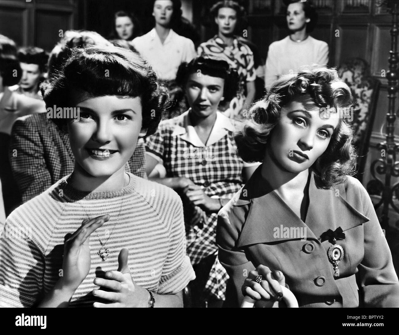 PETULA CLARK, MAI ZETTERLING, THE ROMANTIC AGE, 1949 Stock Photo