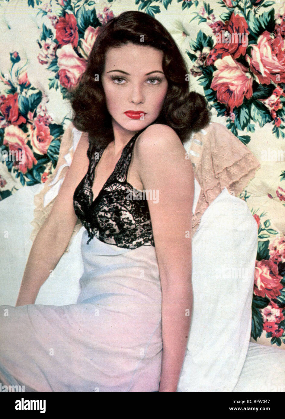 GENE TIERNEY ACTRESS (1942) - Stock Image