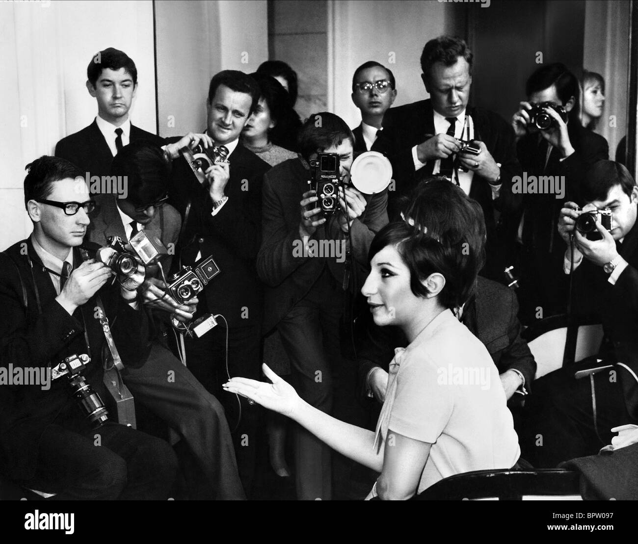 BARBRA STREISAND FUNNY GIRL PREMIERE (1968) - Stock Image