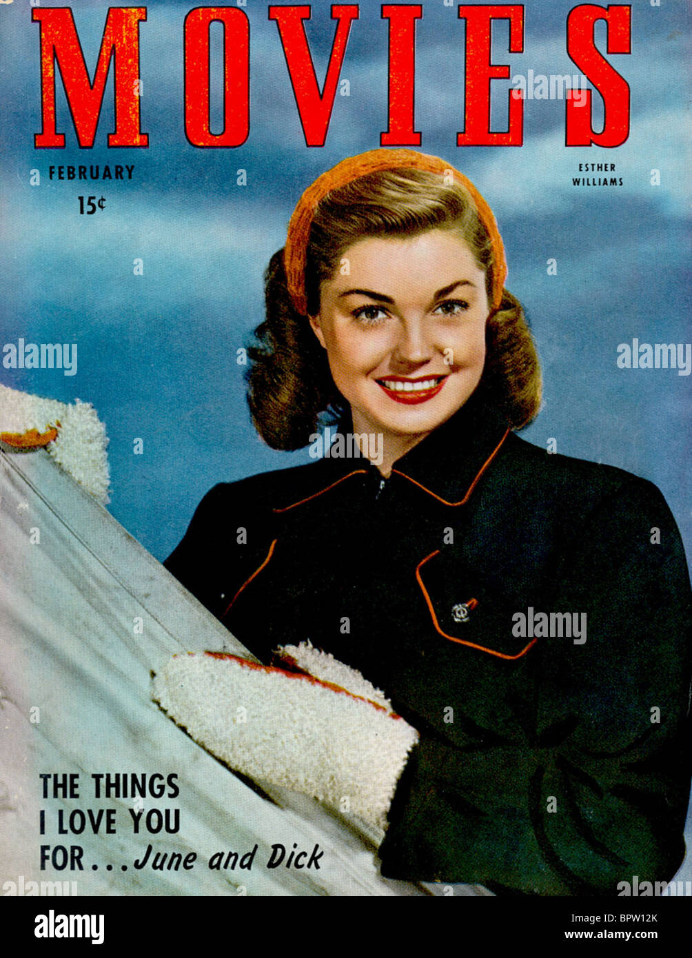 ESTHER WILLIAMS MOVIES MAGAZINE COVER (1947) - Stock Image