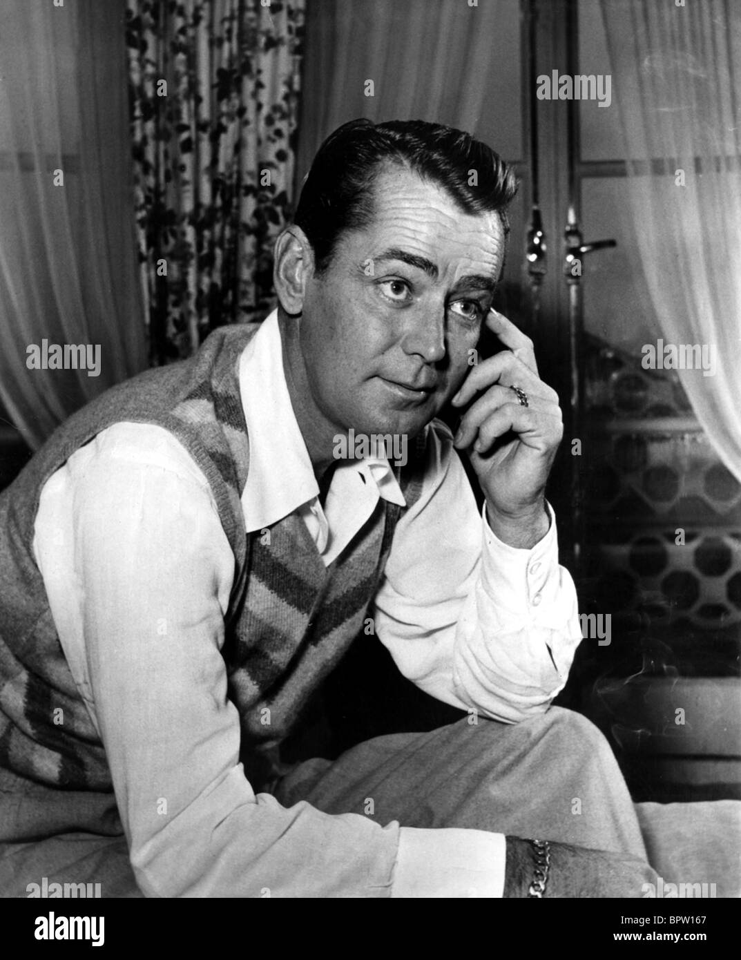 ALAN LADD ACTOR (1955) - Stock Image