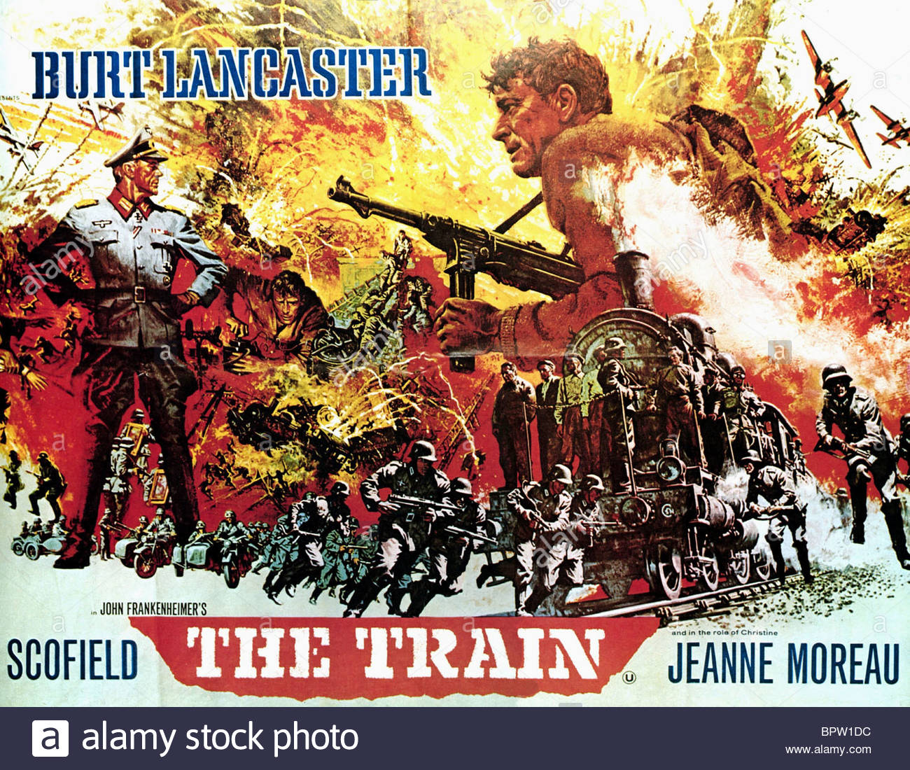 MOVIE POSTER THE TRAIN 1964 Stock Photo 31282760
