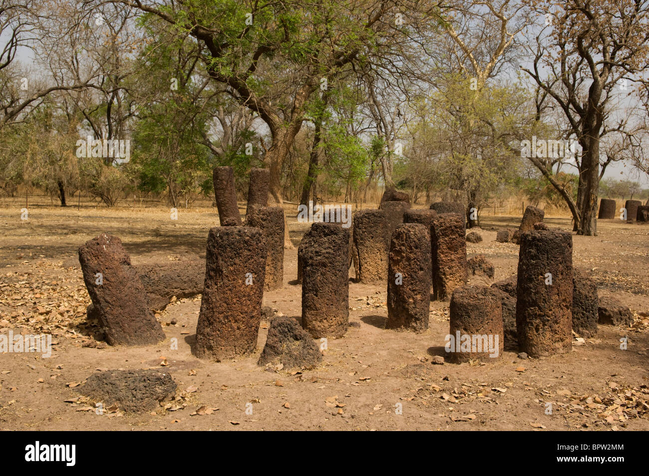 Ker Batch Stone Circles, the Gambia - Stock Image