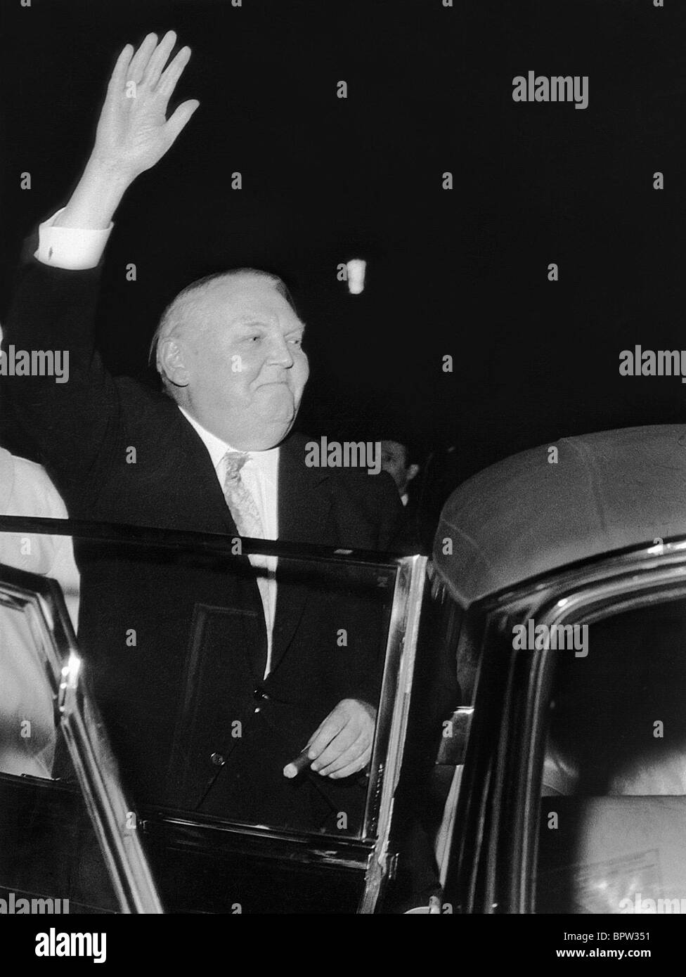 LUDWIG ERHARD WEST GERMAN ECONOMICS MINISTER 01 May 1963 Stock Photo