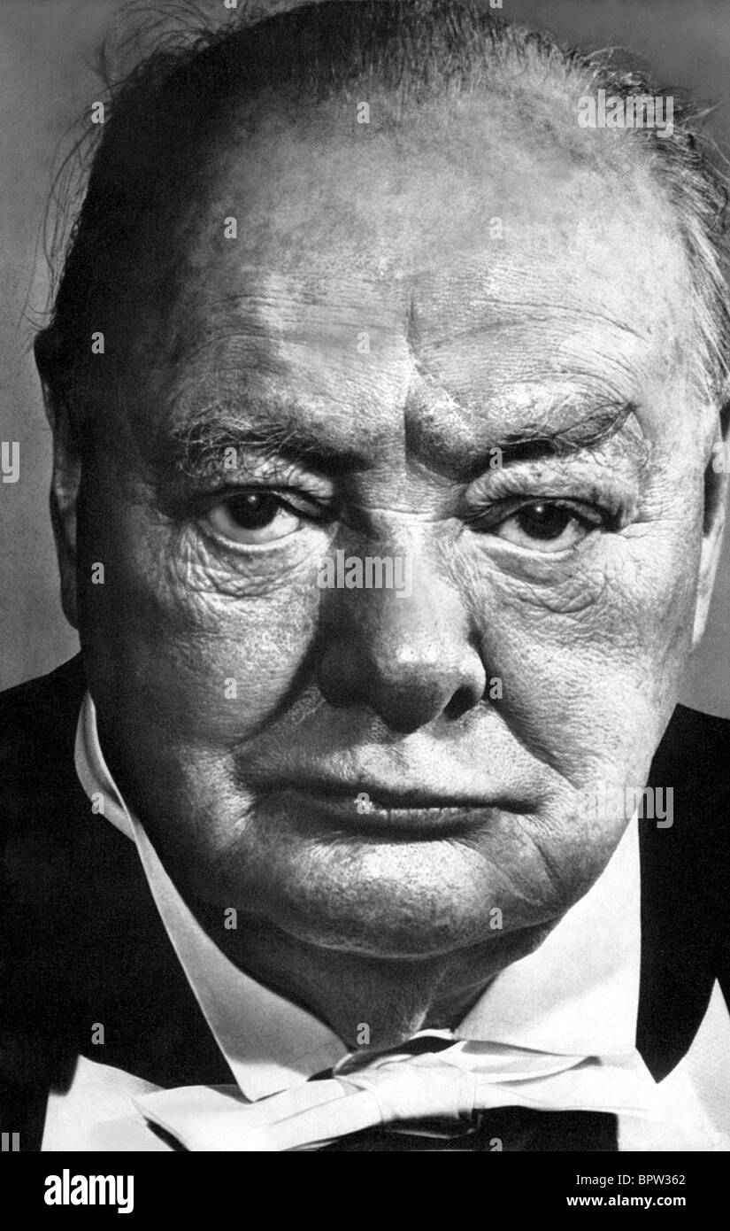 WINSTON CHURCHILL PRIME MINISTER OF ENGLAND 24 March 1952 - Stock Image