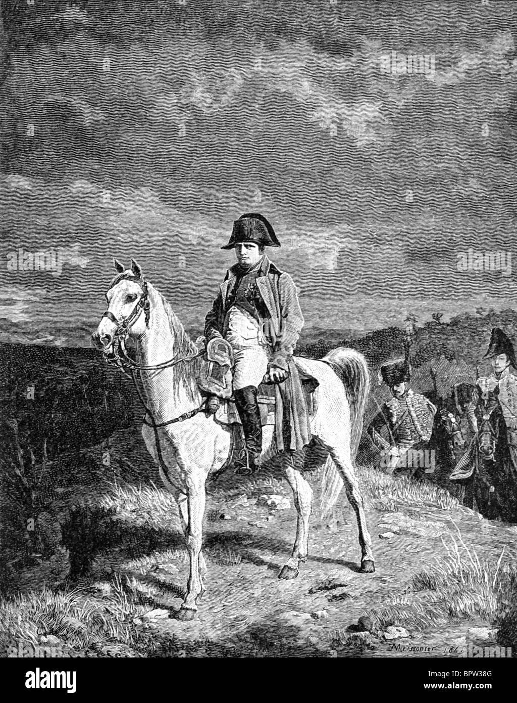 NAPOLEON BONAPARTE EMPEROR OF THE FRENCH 05 July 1809 VIENNA - Stock Image