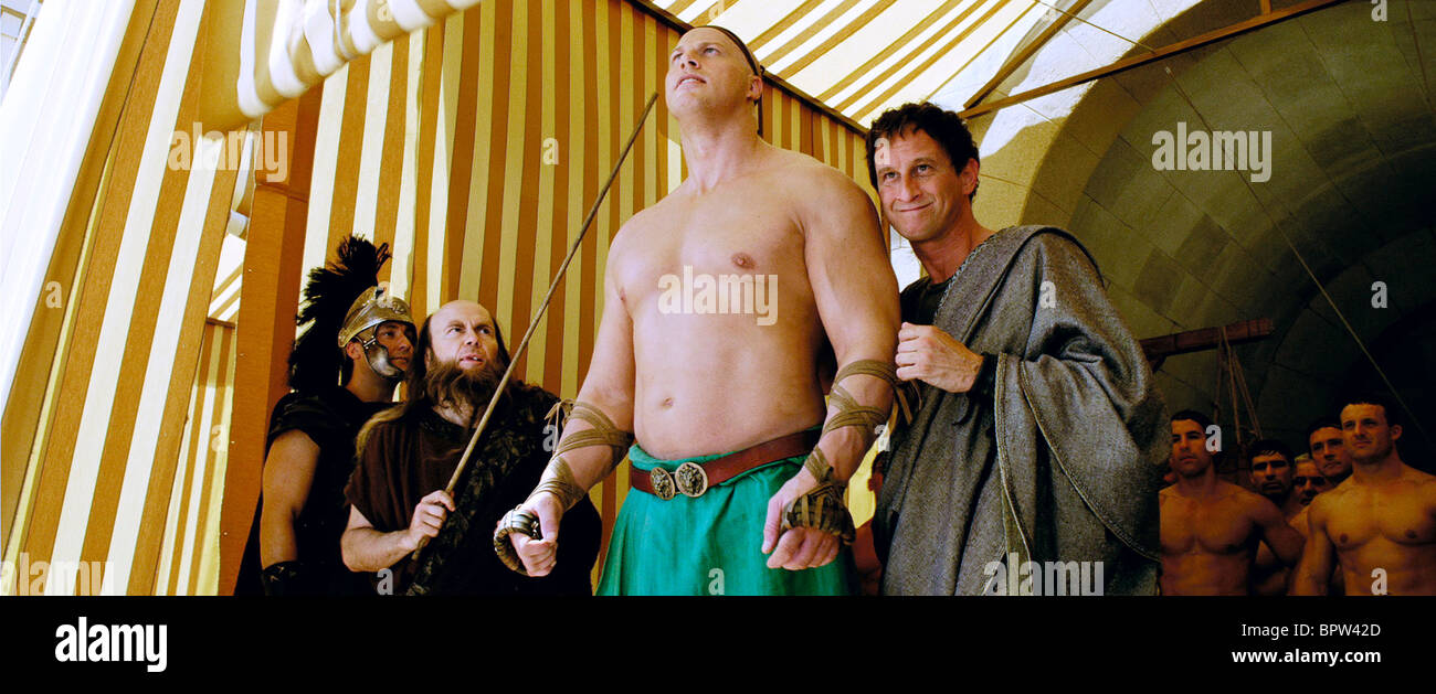 NATHAN JONES & BENOIT POELVOORDE ASTERIX AT THE OLYMPIC GAMES (2008) - Stock Image