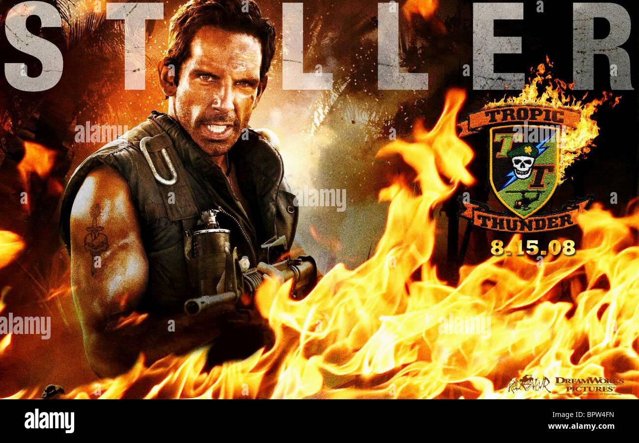 Ben Stiller Poster Tropic Thunder 2008 Stock Photo Alamy