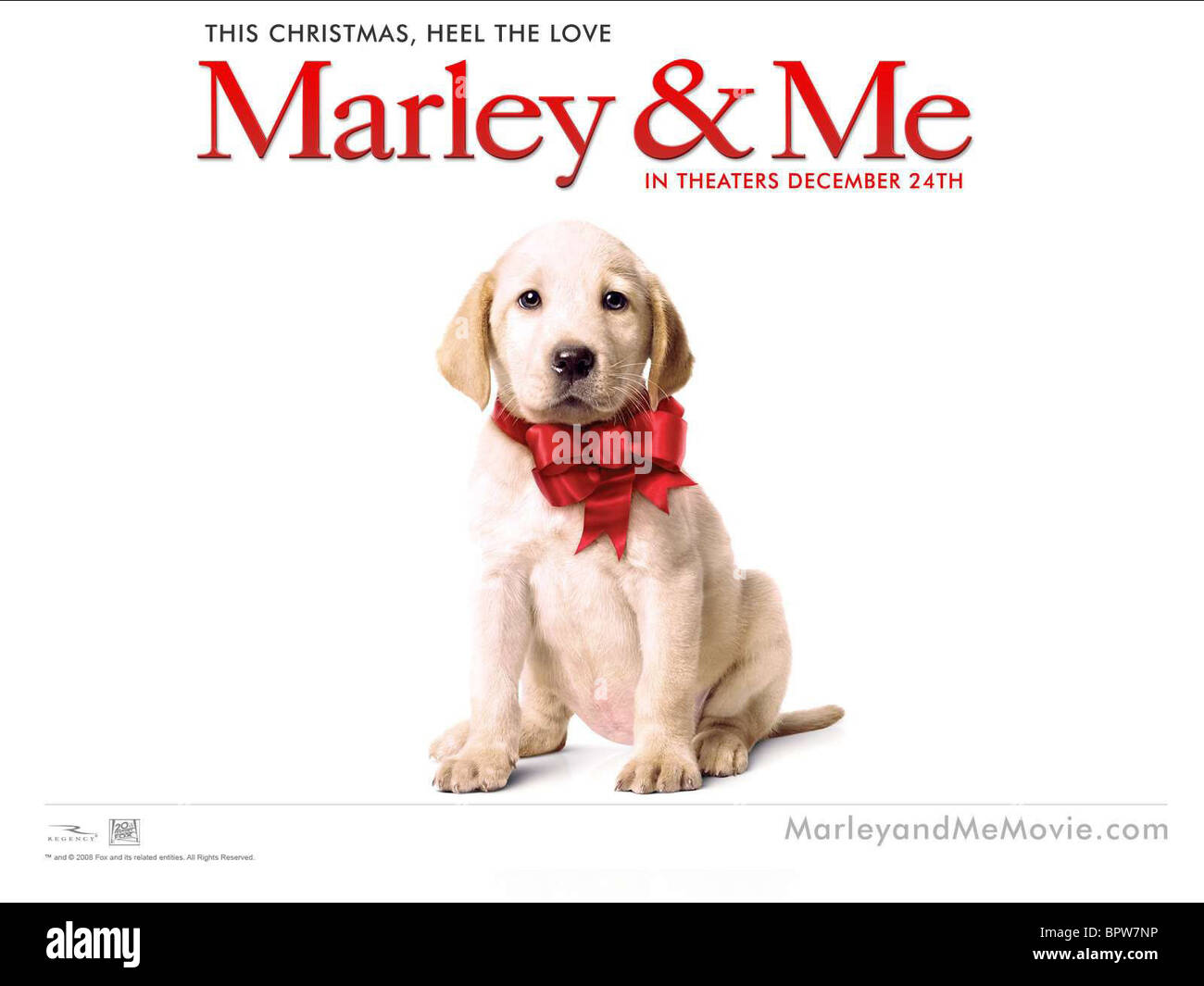 Marley Poster Marley Me 2008 Stock Photo Alamy