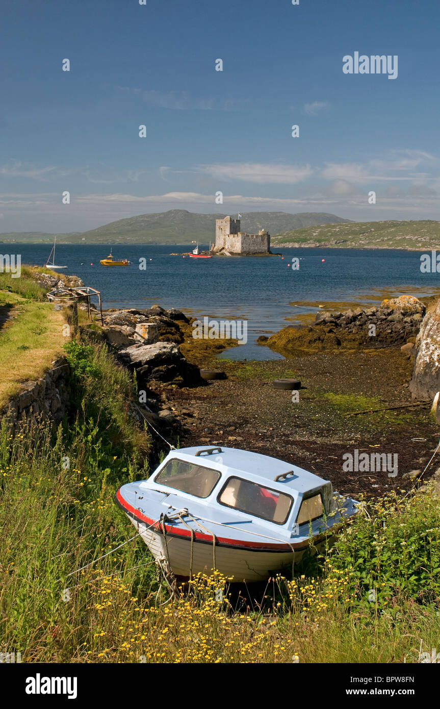 Kisimul Castle sits in Castlebay on the Island of Barra, Outer Hebrides Western Isles. Scotland.  SCO 6524 - Stock Image
