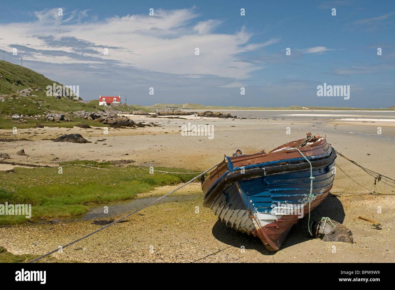 Crannag at Traig Mhor beach Isle of Barra, Outer Hebrides Western Isles. Scotland.  SCO 6543 - Stock Image