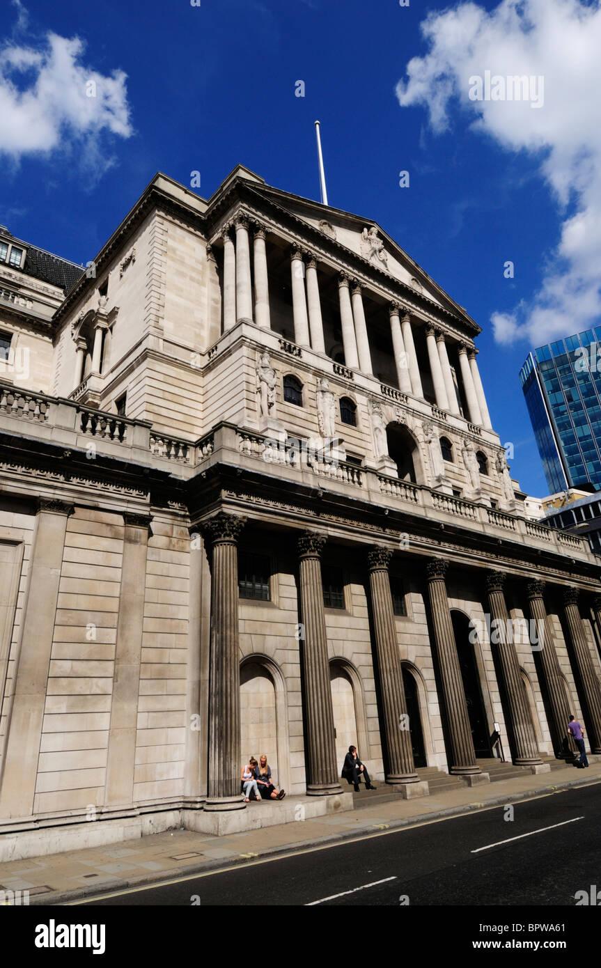 The Bank of England, Threadneedle Street, London, England, UK - Stock Image