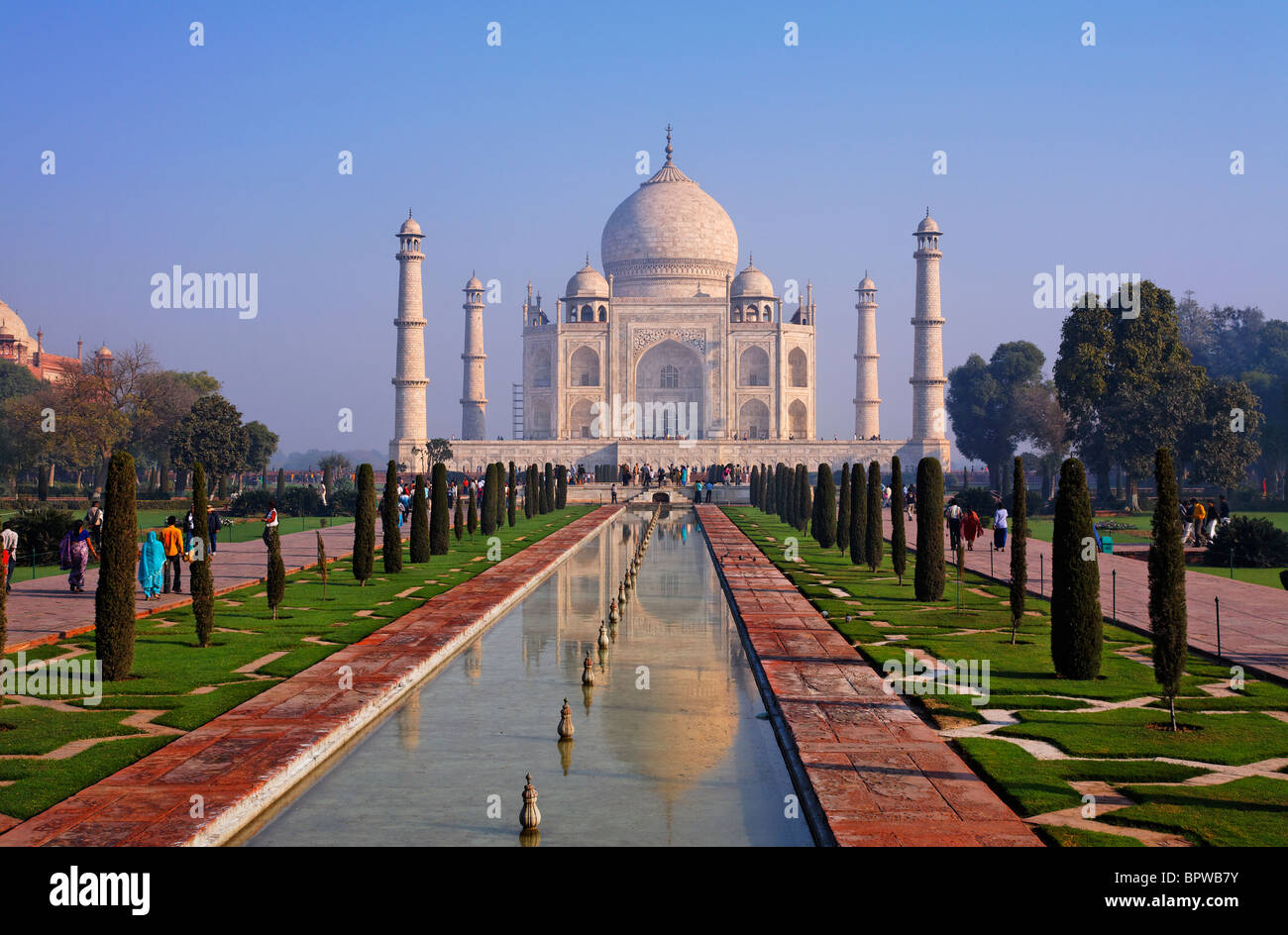 The Taj Mahal, Agra, Uttar Pradesh, India - Stock Image