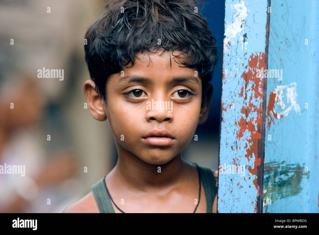 Ayush Mahesh Khedekar Slumdog Millionaire 2008 Stock Photo Alamy