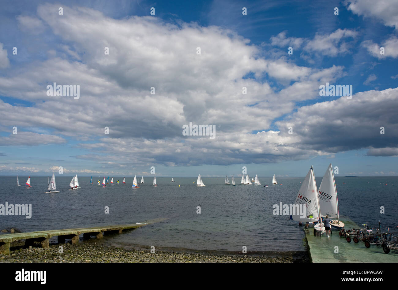Sailing at County Antrim Yacht Club, Whitehead, Northern