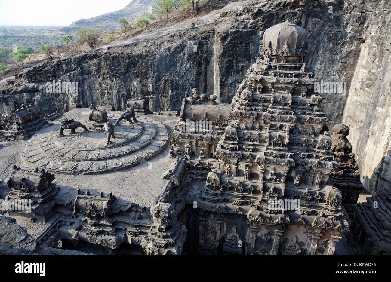 Cave Temples in Ellora, India
