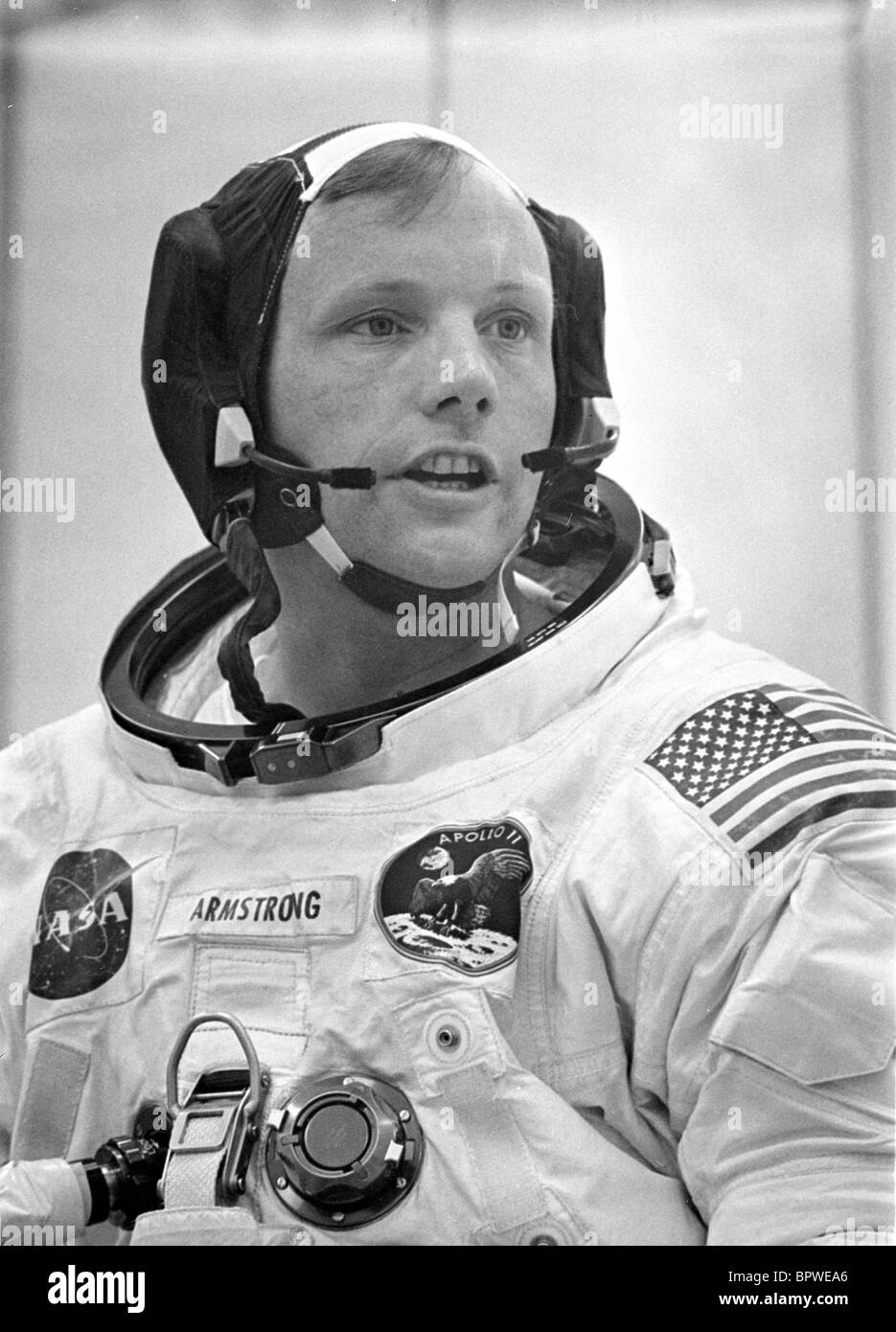 NEIL ARMSTRONG APOLLO 11 ASTRONAUT (1969) Stock Photo