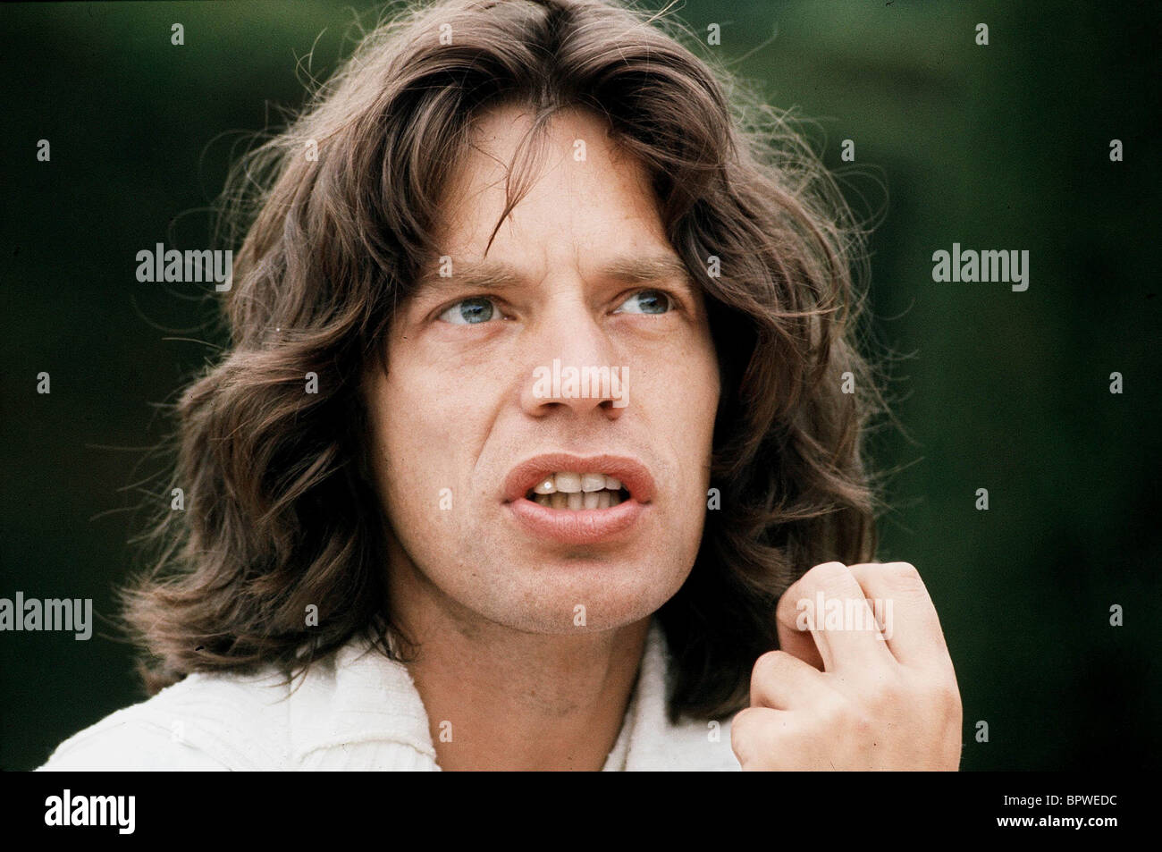 "MICK JAGGER MUSICIAN ""ROLLING STONES"" (1975) Stock Photo"