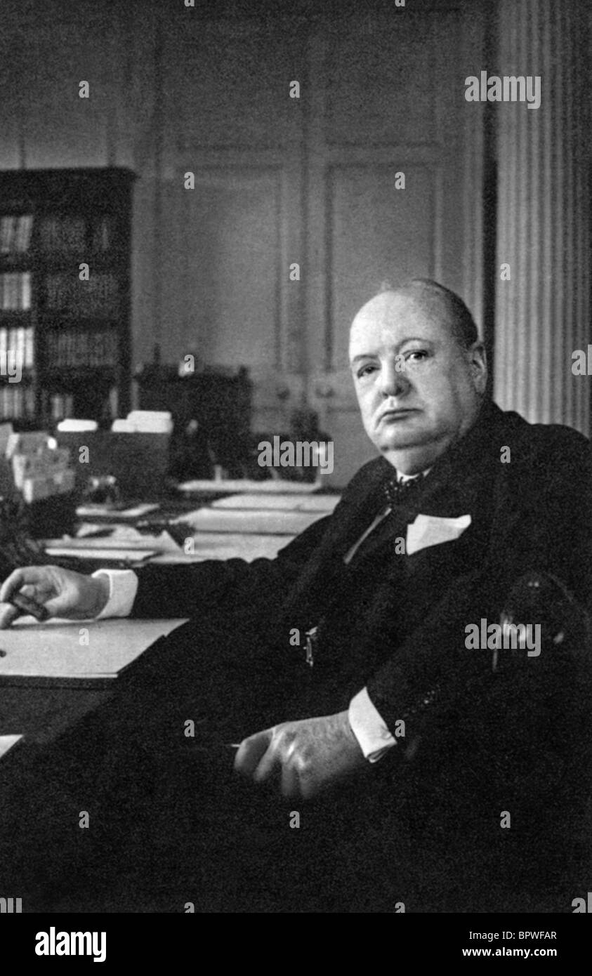WINSTON CHURCHILL PRIME MINISTER OF ENGLAND 01 May 1943 - Stock Image
