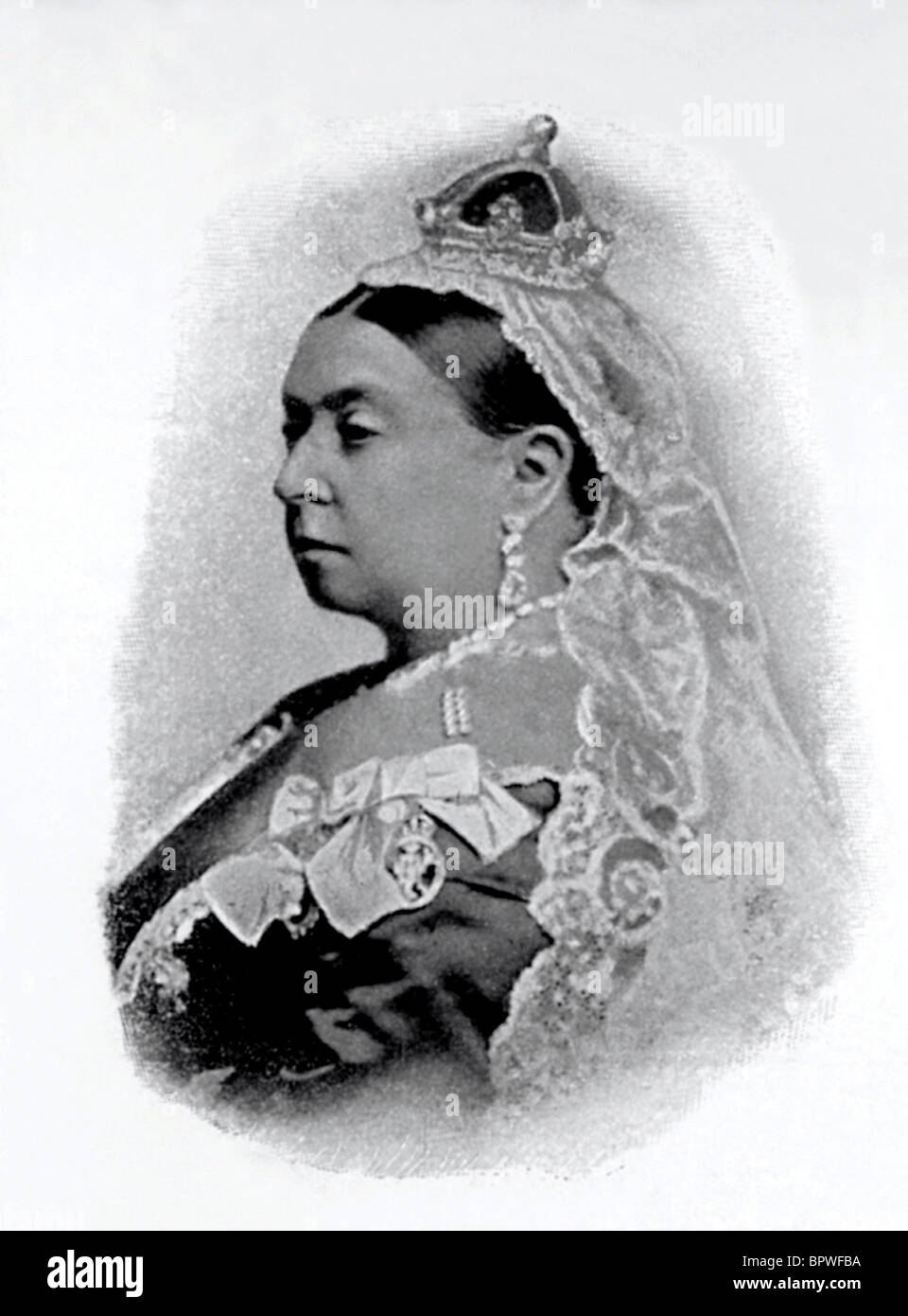 QUEEN VICTORIA QUEEN OF ENGLAND 1837 - 1901 10 June 1885 - Stock Image
