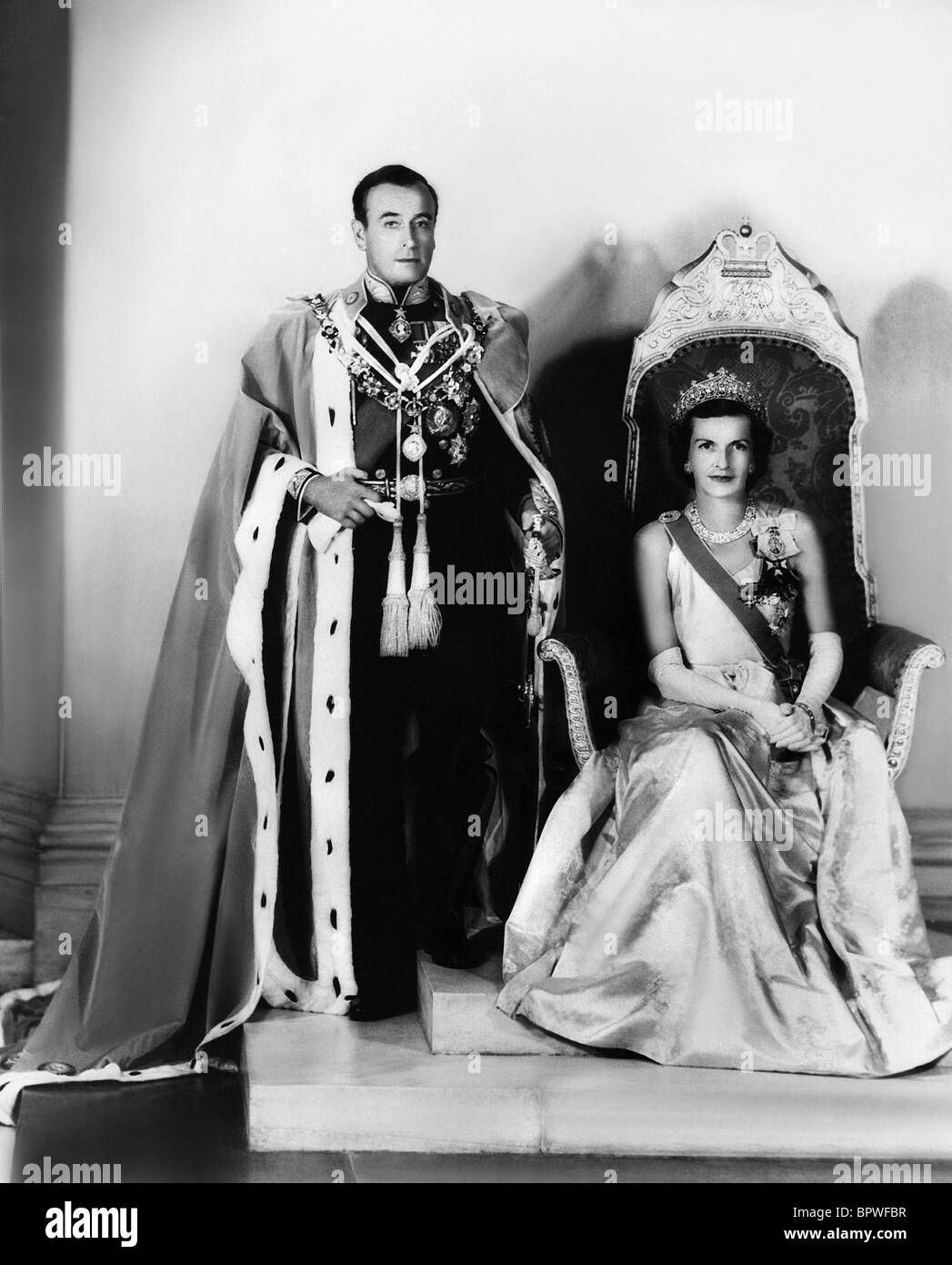LORD & LADY MOUNTBATTEN ROYAL FAMILY 1947/1948 - Stock Image