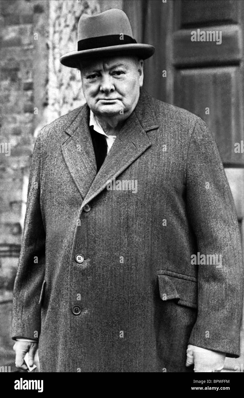 WINSTON CHURCHILL PRIME MINISTER OF ENGLAND 01 June 1950 - Stock Image