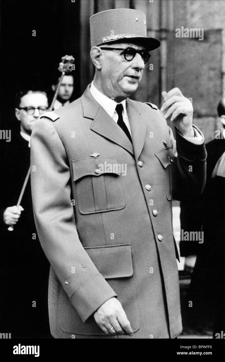 CHARLES DE GAULLE PRESIDENT OF FRENCH REPUBLIC 01 June 1960 Stock Photo